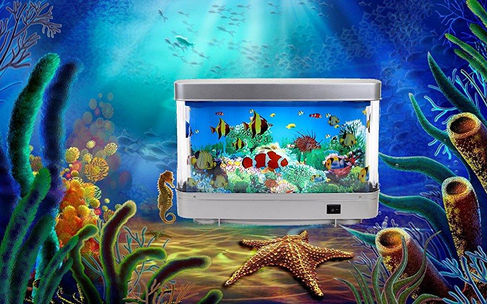 Fish & Aquariums Artificial Tropical Fish Aquarium Decorative Lamp Virtual Ocean In Motion Pet Supplies