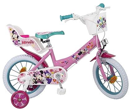 Bicicleta Toimsa Minnie de 14 para la edad de 4 a 6 años.