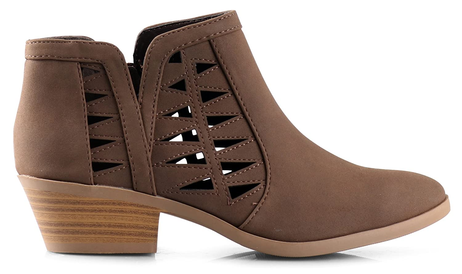 SODA Chance Womens Closed Toe Multi Strap Ankle Bootie
