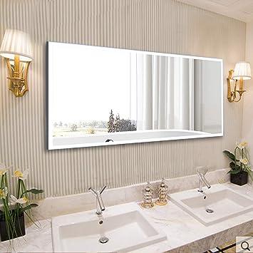 Amazon Com Vanity Art 60 Inch Rectangular Frameless Led Lighted Illuminated Bathroom Vanity Wall Mirror Fog Dimmable Light With Touch Sensor Switch Va3d 60 Home Improvement
