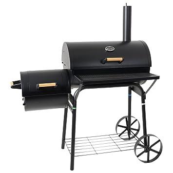 Azuma Smoker Barbecue Black Barrel BBQ Outdoor Charcoal Grill