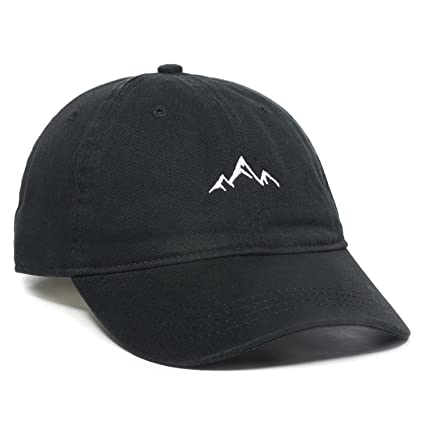530caf333203d9 Amazon.com: Outdoor Cap -Adult Mountain Dad Hat-Unstructured Soft Cotton Cap,  Black, One Size: Clothing