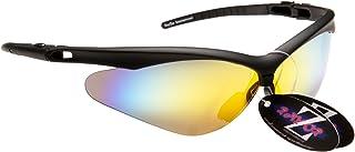 Rayzor professionnel léger UV400 Noir Sport Wrap cricket Lunettes de soleil, avec l'or Iridium miroir anti-éblouissement Lens.