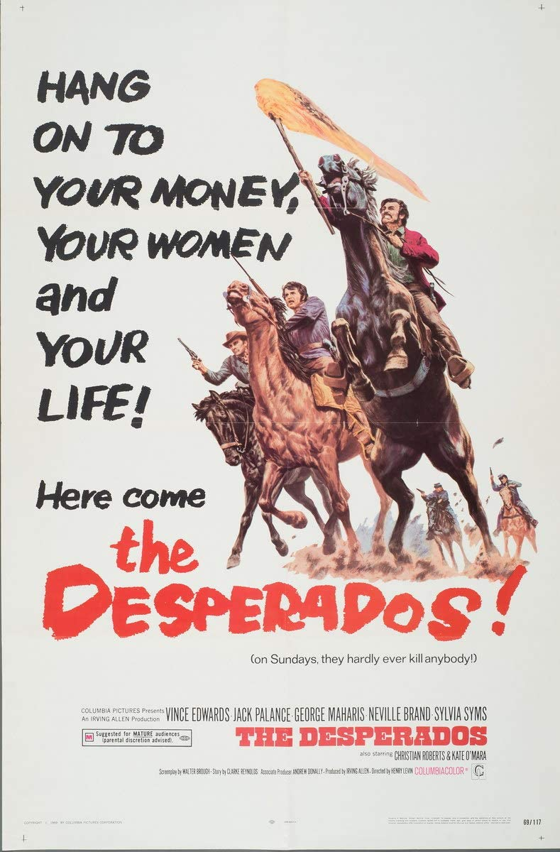 Amazon Com Berkin Arts Movie Poster Giclee Print On Canvas Film Poster Reproduction Wall Decor The Desperados 2 Xfb Posters Prints