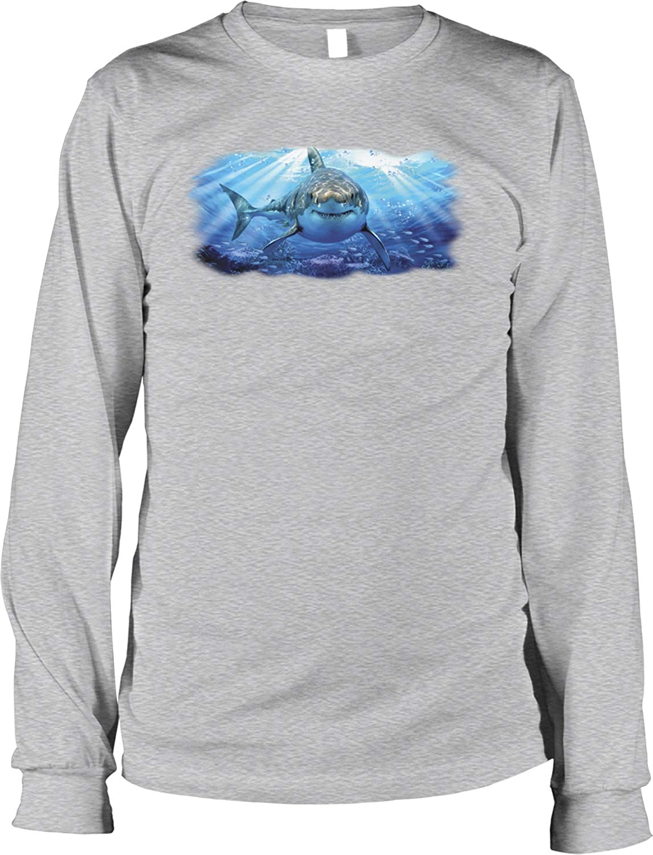 Hoodteez Great White Shark Men's Long Sleeve Shirt