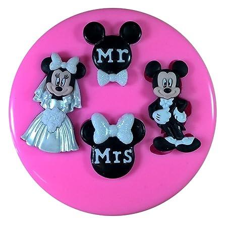 Fondant Paste Chocolate Craft Y Mr /& Mrs Hearts Wedding Silicone Mold