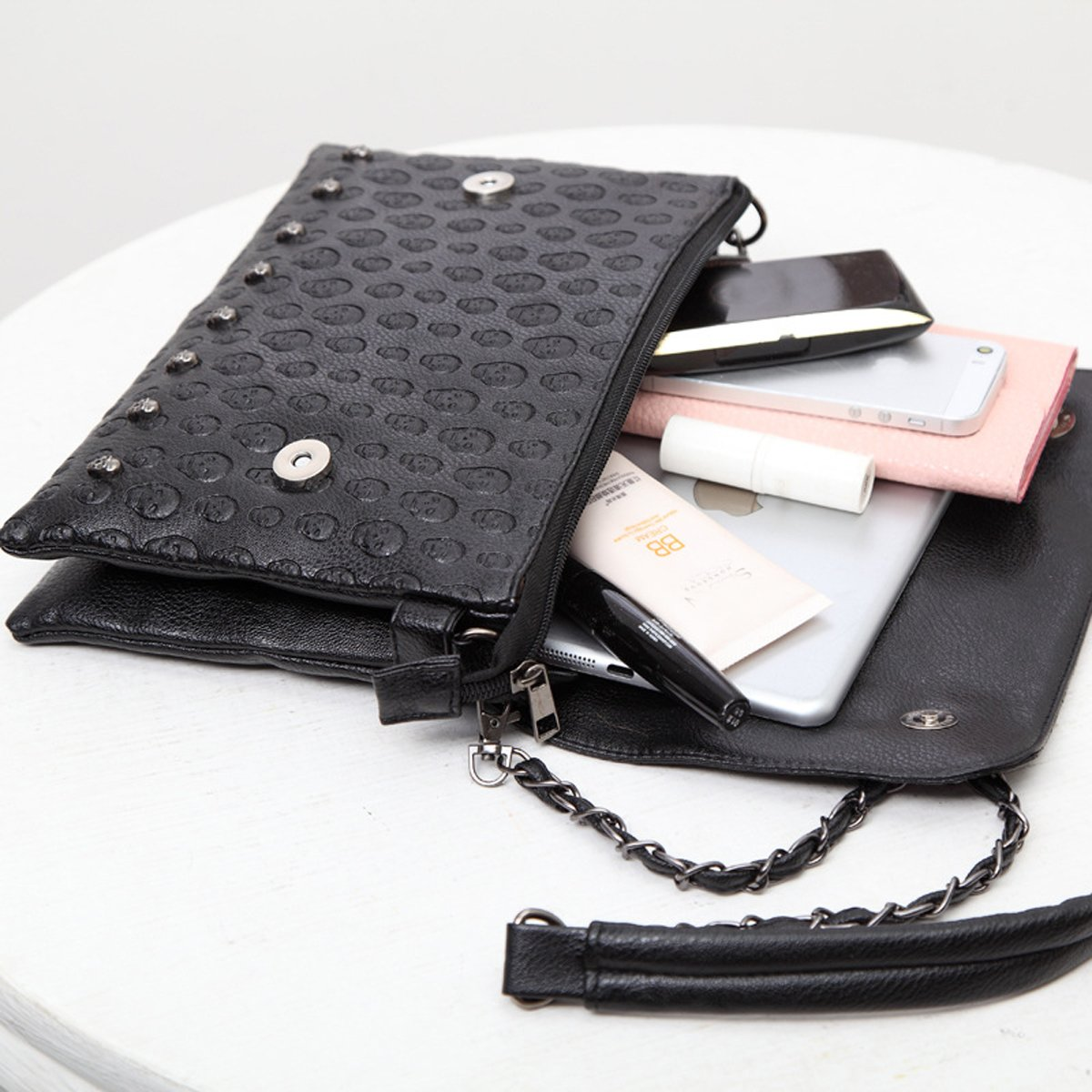Amazon.com: e-clover Vintage calavera sobre embrague bolso ...