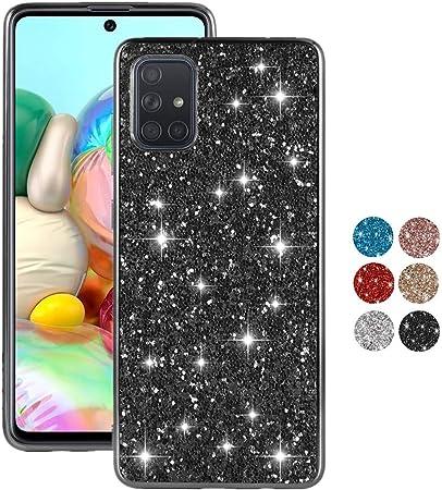 Colicoli Für Samsung Galaxy A71 Hülle Glitzer Mädchen Elektronik