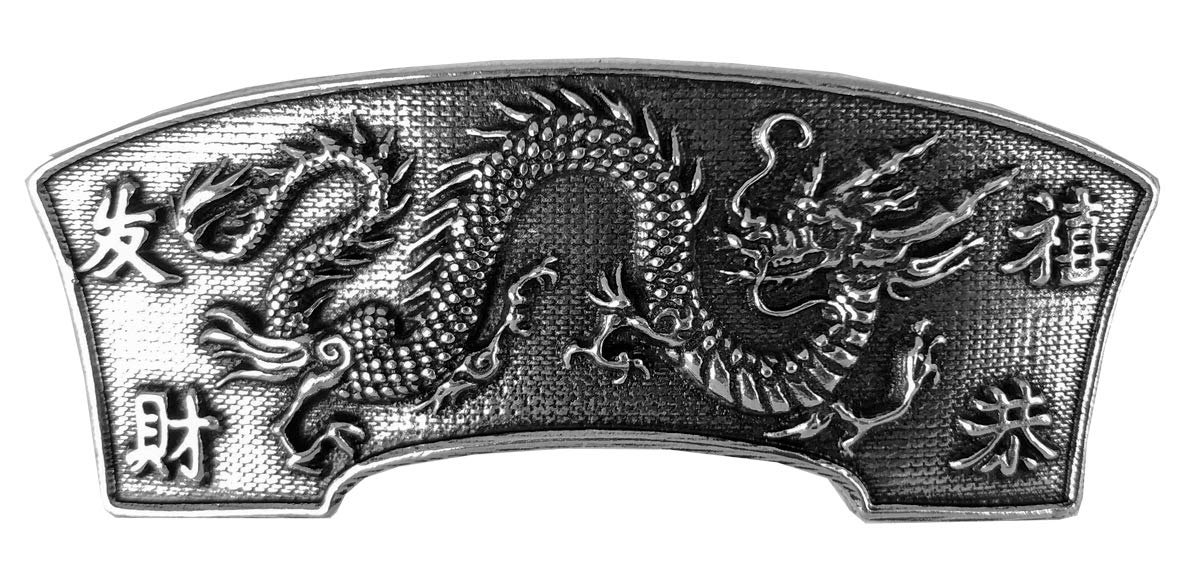 Dragon Hair Clip, Medium Hand Crafted Metal Barrette Made in the USA with a 70mm Imported French Clip by Oberon Design