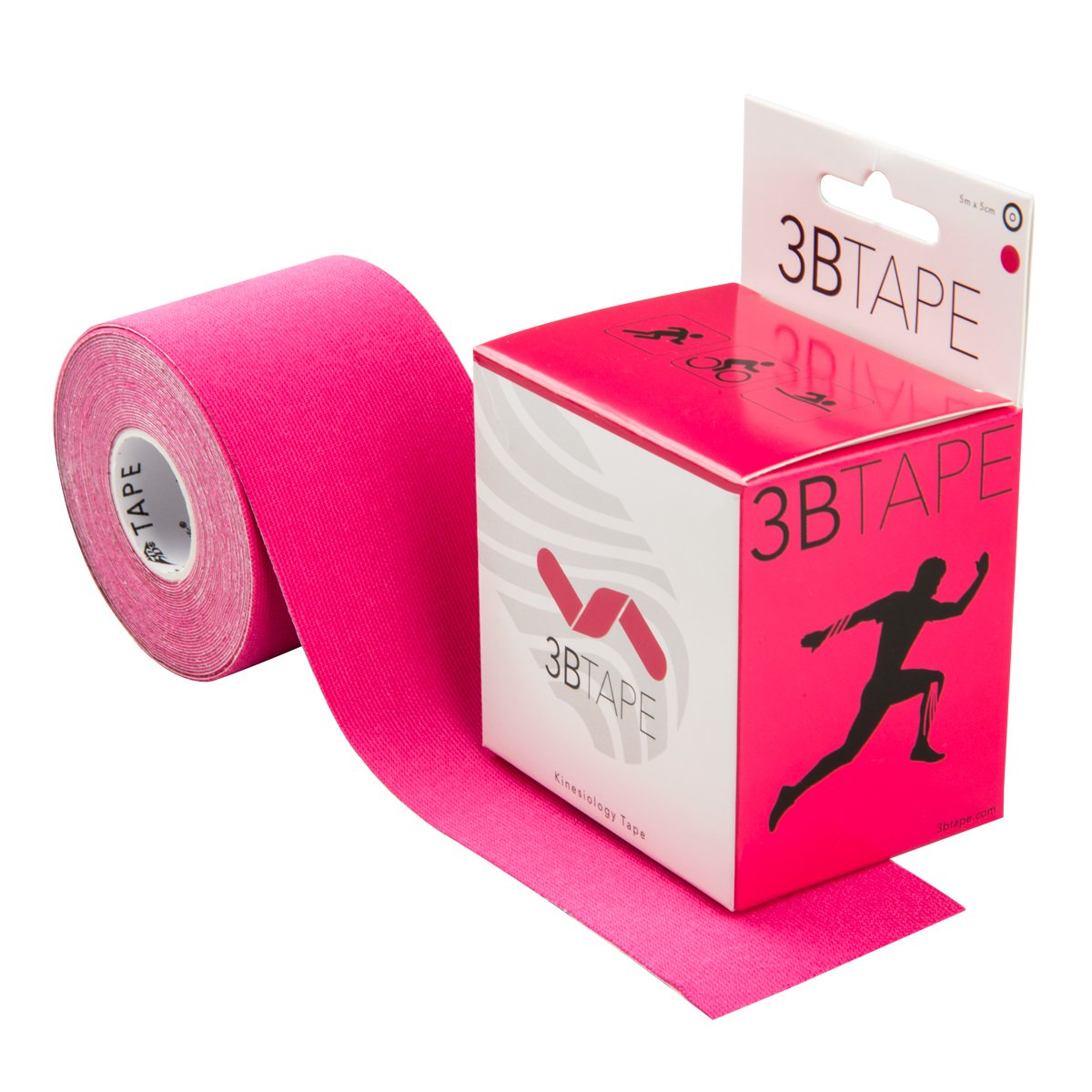3B Scientific Pink Cotton Rayon Fiber Kinesiology Tape, 16' Length x 2'' Width