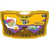 Bic Kids 933957ölmalkreide Oil pastels, Lot de 12, 12couleurs assorties