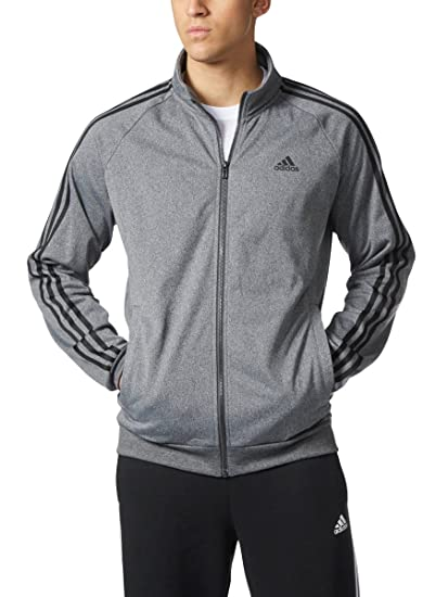 Adidas Mens Big & Tall Essentials 3 Stripe Track Jacket