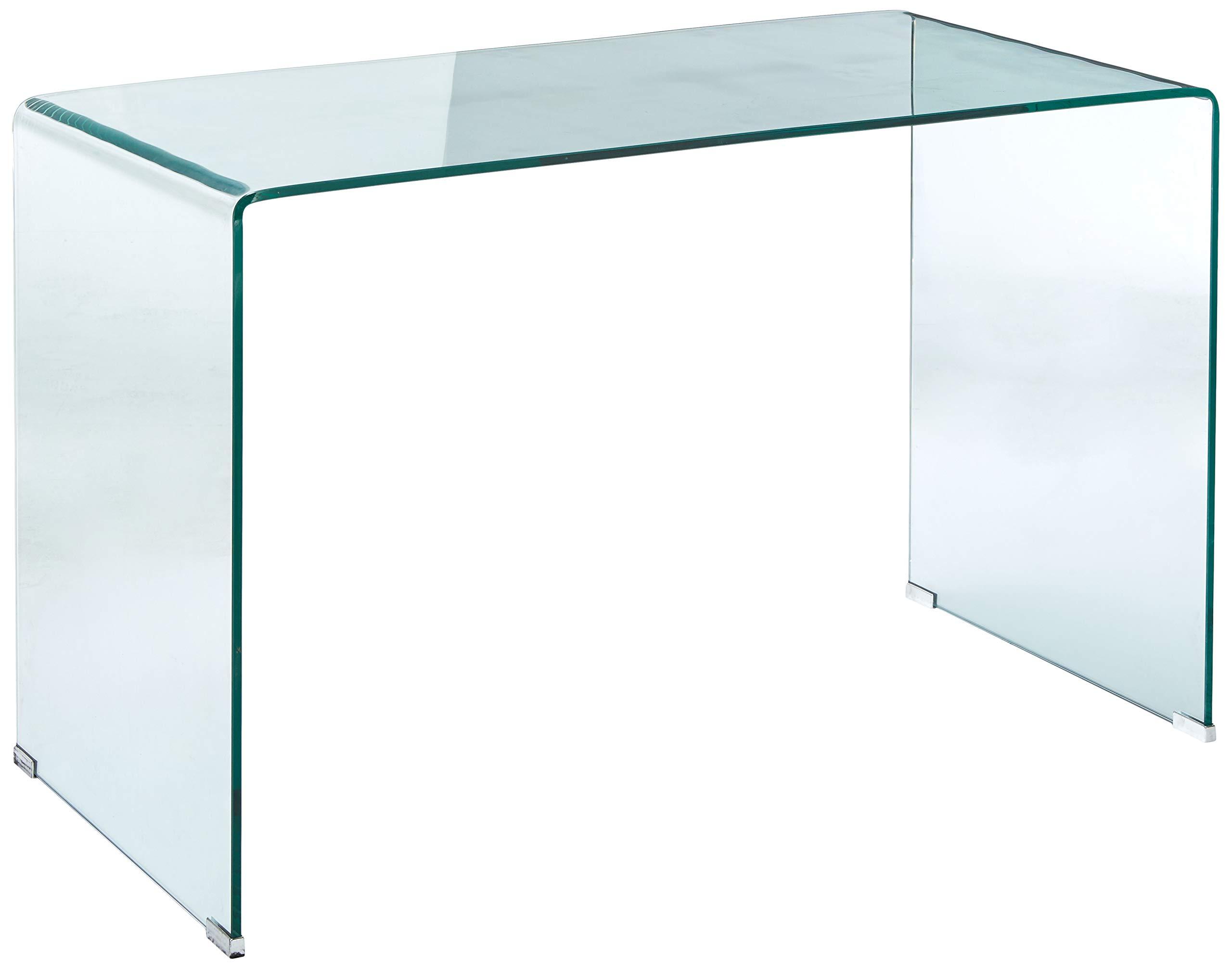 Coaster Home Furnishings 801581 Writing Desk, Clear and Chrome by Coaster Home Furnishings