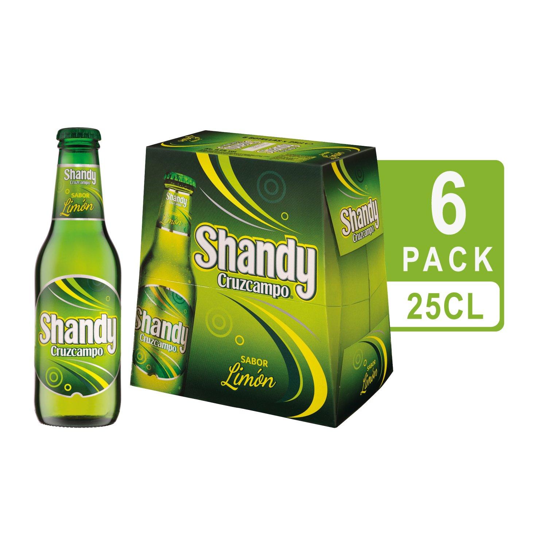 Cruzcampo Shandy Cerveza con Sabor a Limón - Pack de 6 x 25 ...