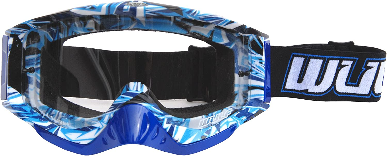 Wulfsport Racing Adult GEO Motocross Helmet Goggles Blue