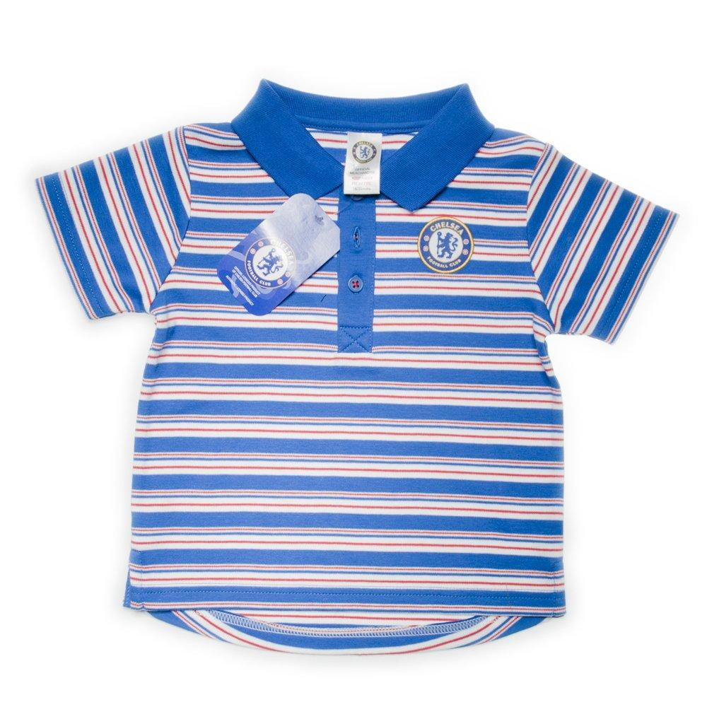 Chelsea Football Club - Polo con rayas horizontales y escudo del ...