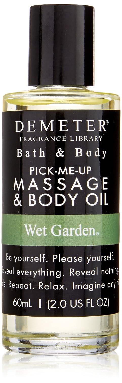 Demeter Massage and Body Oil for Unisex, Wet Garden, 2 Ounce