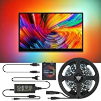 MAQRLT Podświetlenie LED do telewizora 5 m, telewizor DIY, ekran marzeń PC, listwa oświetleniowa LED USB, telewizor HD…