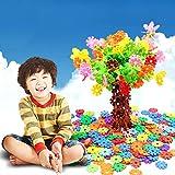 HuaYang 108 pcs DIY flocon de neige design Puzzle cubes de construction jouet éducatif pour les enfants