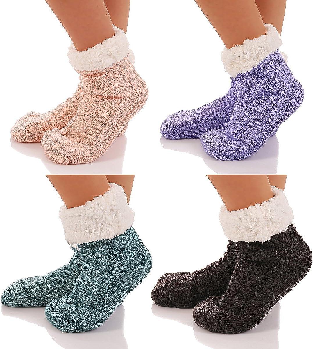 cleostyle H/üttensocken Hausschuhe Socken H/üttenschuhe ABS//Teddy CL 3999