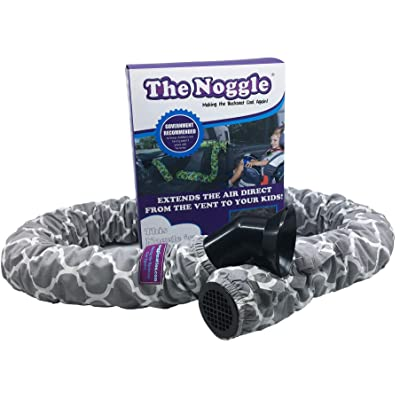 The Noggle - Making The Backseat Cool Again - Unique Air Vent Extender Provides Hot or Cold Air Direct from The Vent to Your Kids -Ideal Car Accessories for Kids While Traveling- 6ft, Quatrefoil: Baby