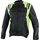Xelement XS32201A Swift Mens Black/Neon Green Tri-Tex Armored Motorcycle Jacket - 3X-Large