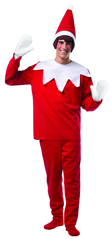Amazon.com: Rasta Imposta Men's Elf On A Shelf, Red/White, One ...