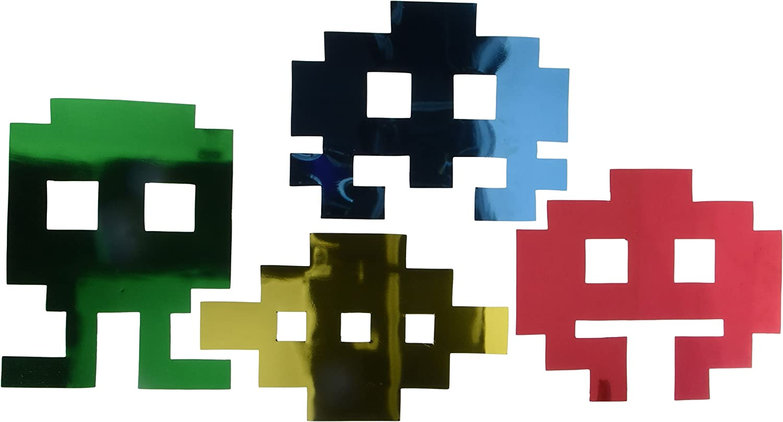 Metallic 80's Icon Silhouettes (asstd colors) (4/Pkg)