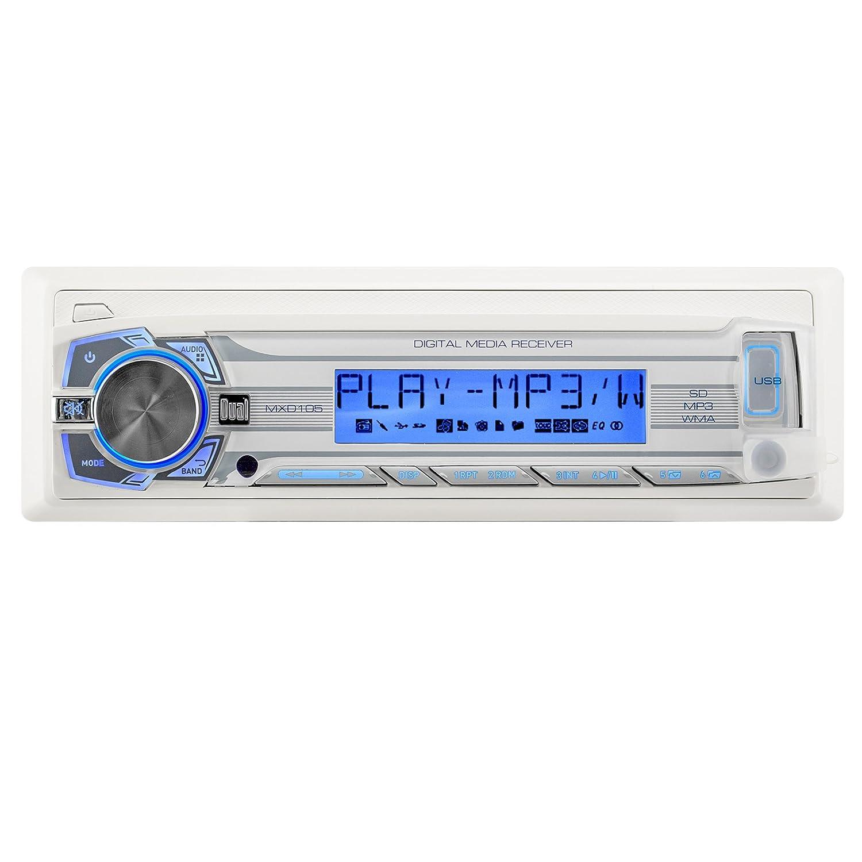 ボートパッケージ:デュアルMarine受信機AM / FM USB w /リモート、8