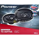 "Pioneer TS-A6976S A Series 6"" X 9"" 550 Watts Max 3-Way Car Speakers Pair with Carbon and Mica Reinforced Injection Molded Pol"