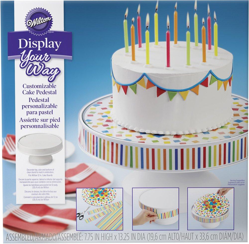 Amazon.com | Wilton 307-2503 Display Your Way Customizable Cake Pedestal White Cake Stands  sc 1 st  Amazon.com & Amazon.com | Wilton 307-2503 Display Your Way Customizable Cake ...