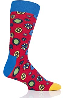 Happy Socks Los Beatles Pepperland Calcetines De Los Hombres, Azul/multi
