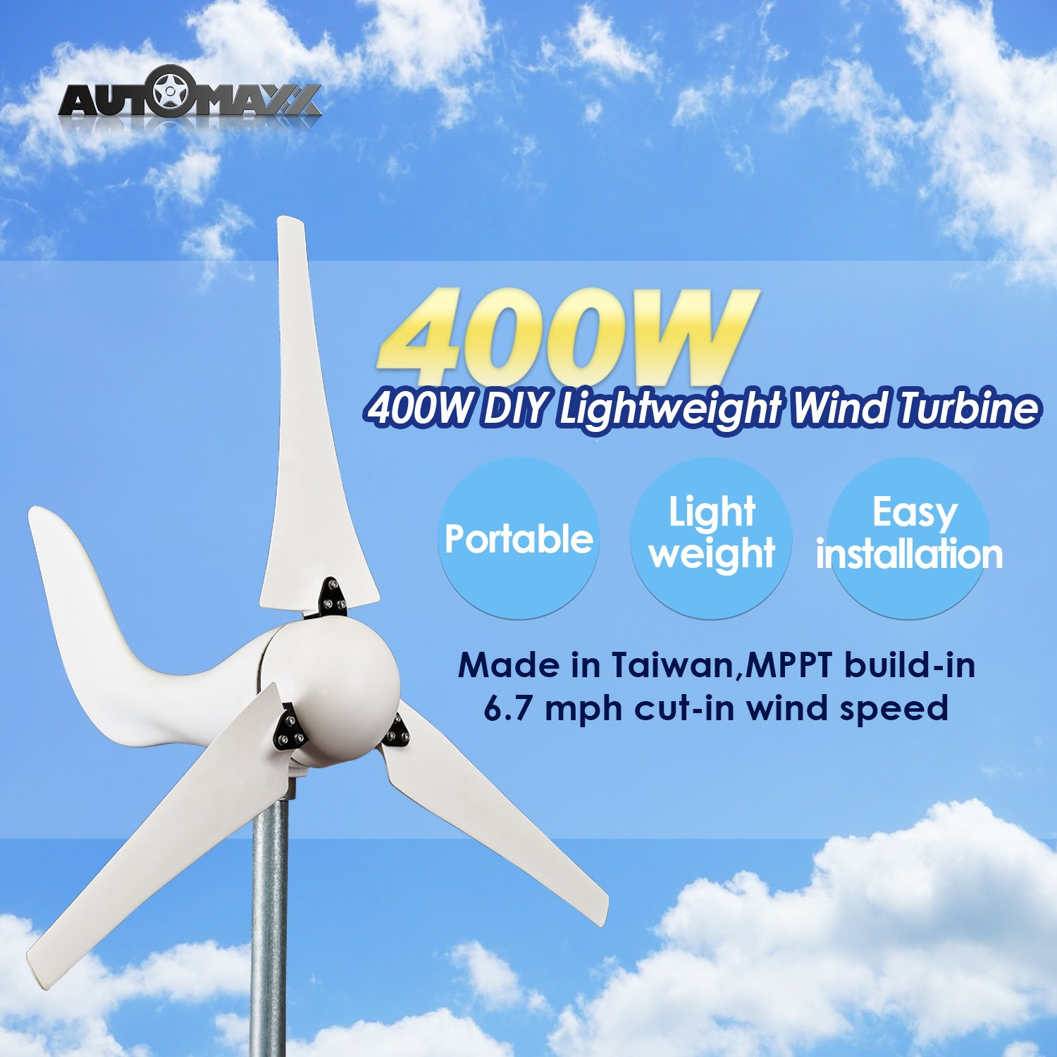 Windmill Db 400 400w 12v Wind Turbine Generator Kit How Do Turbines Generate Electricity Video Energy Powers Garden Outdoor