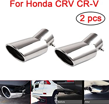 Steel Muffler Exhaust Tail Pipe Tip for 2017-2018 Honda CRV CR-V 2pcs new