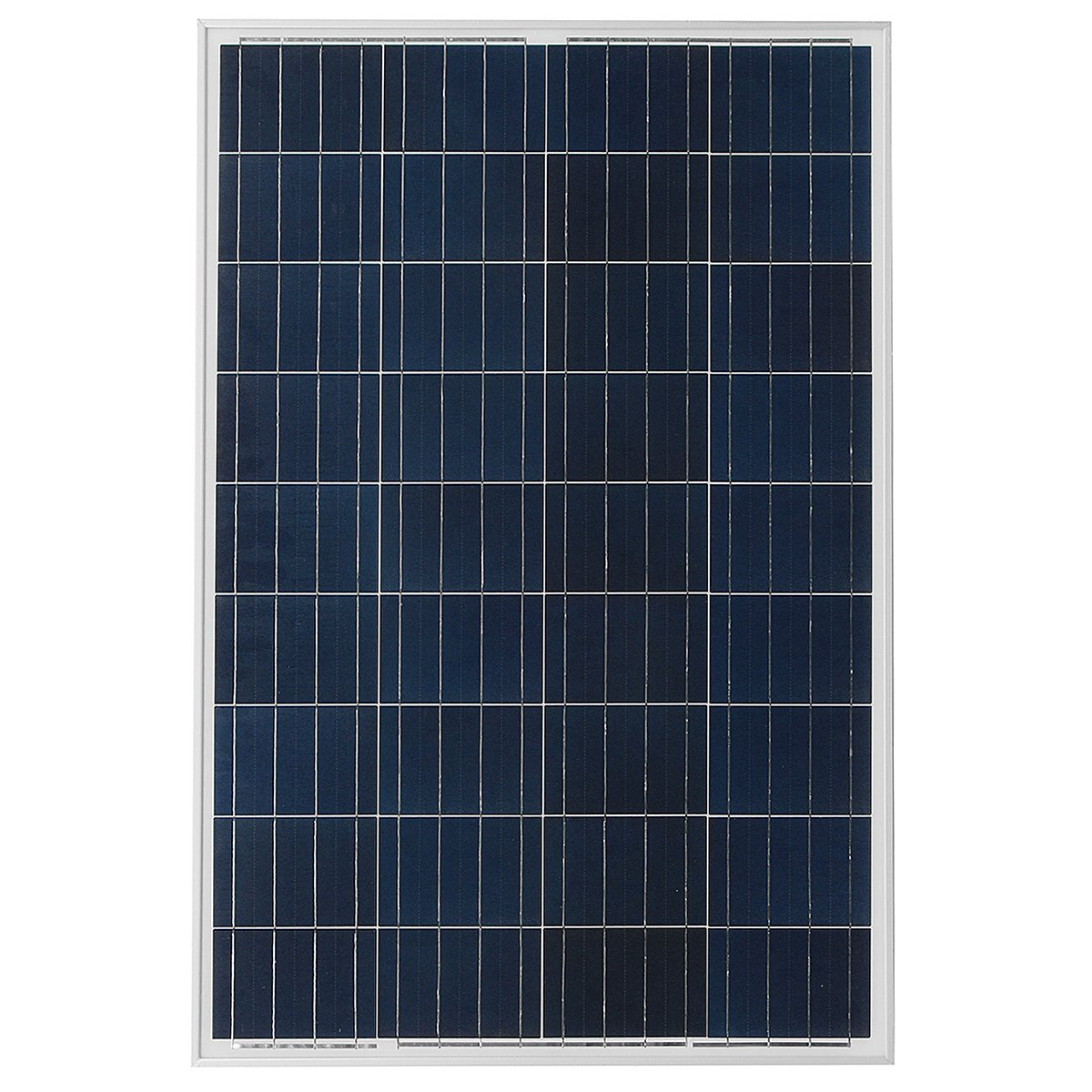 US Warehouse - P-90 90W 18V Poly Solar Panel Battery Charger for Boat Caravan Motorhome - (Color: Silver)