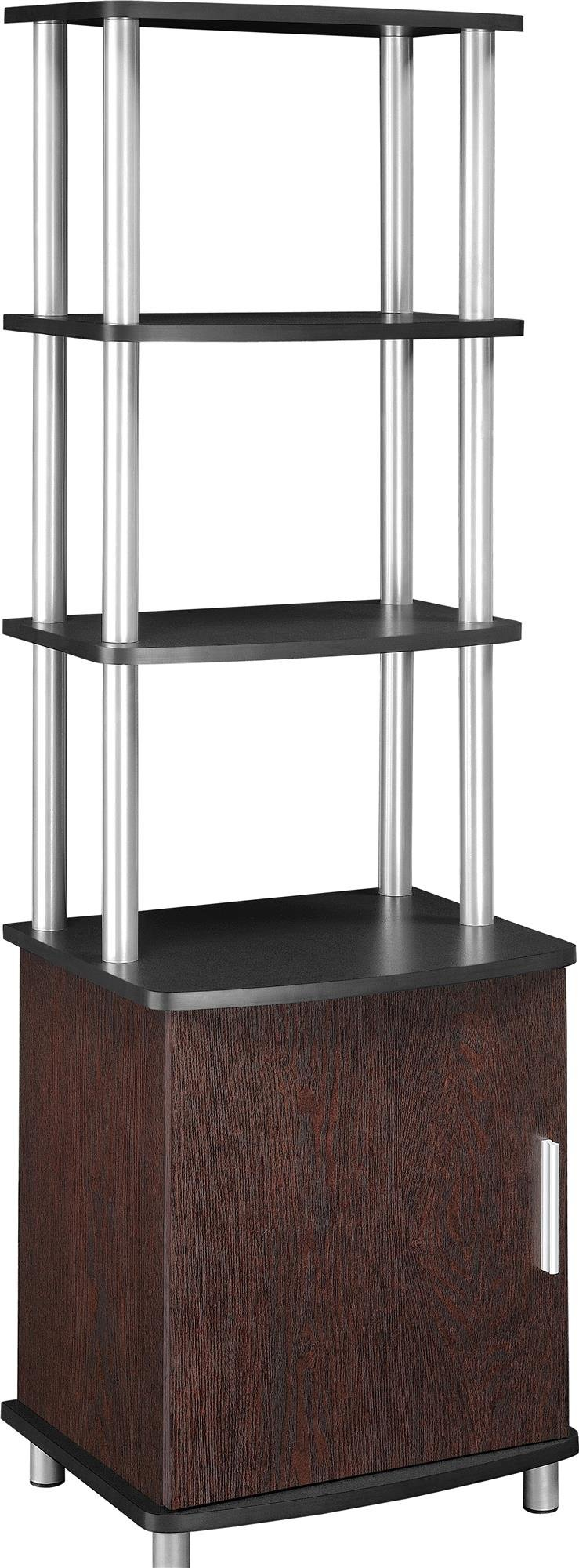 Ameriwood Home Carson Audio Stand, Cherry/Black by Ameriwood Home
