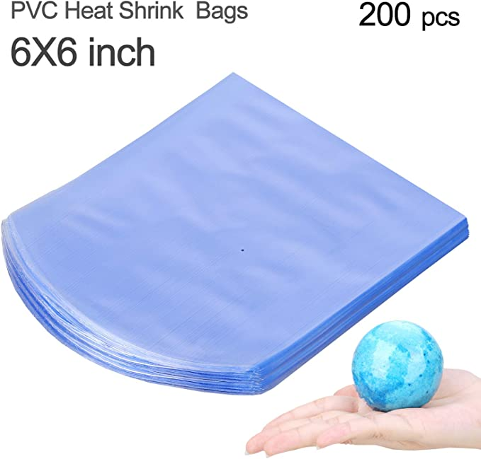 15 x 10cm Dadabig 200 PCS Shrink Wrap Bags Transparent Waterproof Heat Shrink Bags Heat Seal Gift Packing Packaging Film Clear Sealer Film for Soaps Bath Bombs and DIY Crafts