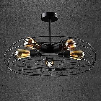 Lámpara de techo Vintage FAN 5 luces, habitaciones de hotel ...
