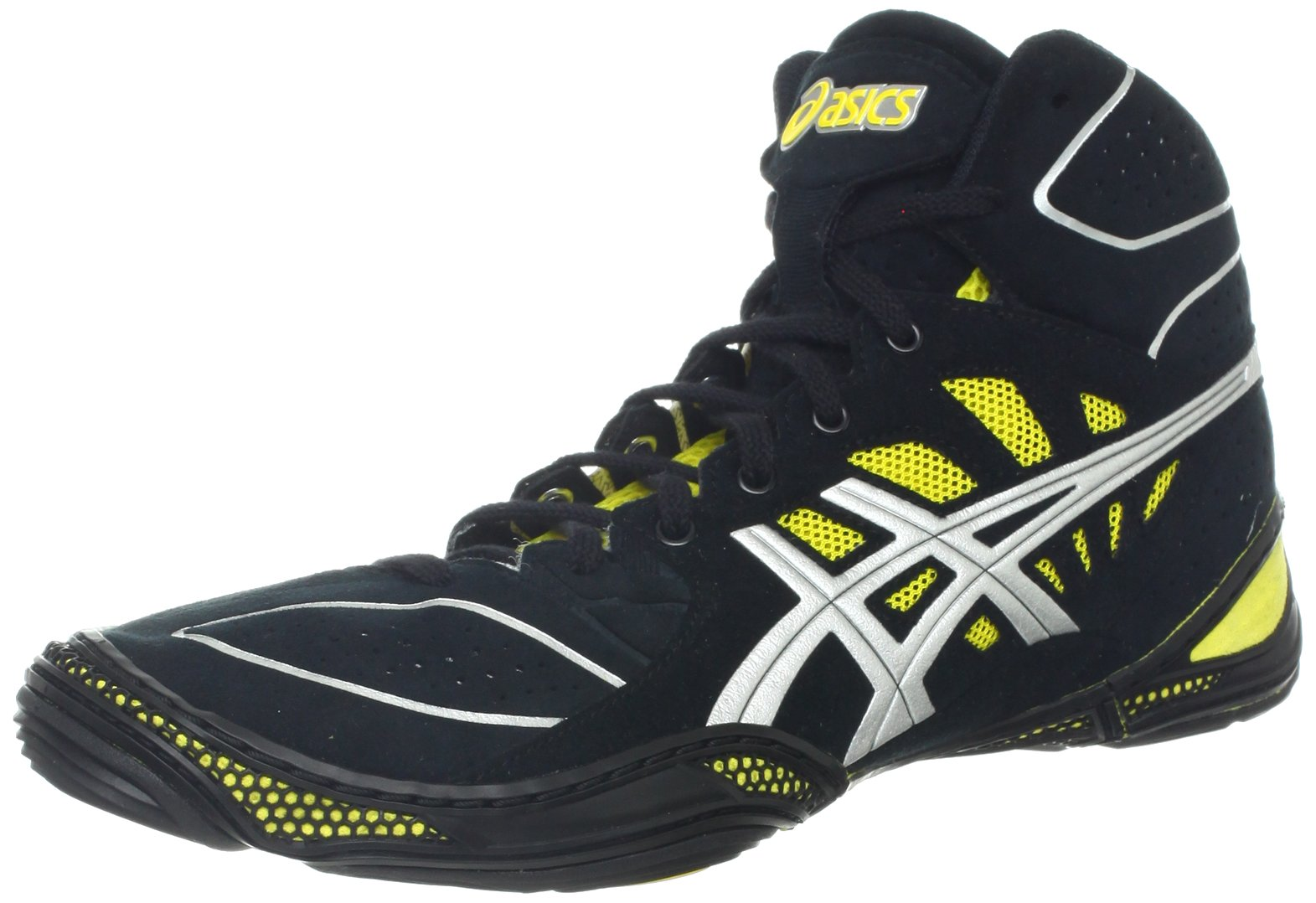 ASICS Men's Dan Gable Ultimate 3 Wrestling Shoe,Black/Silver/Yellow,10.5 M US by ASICS