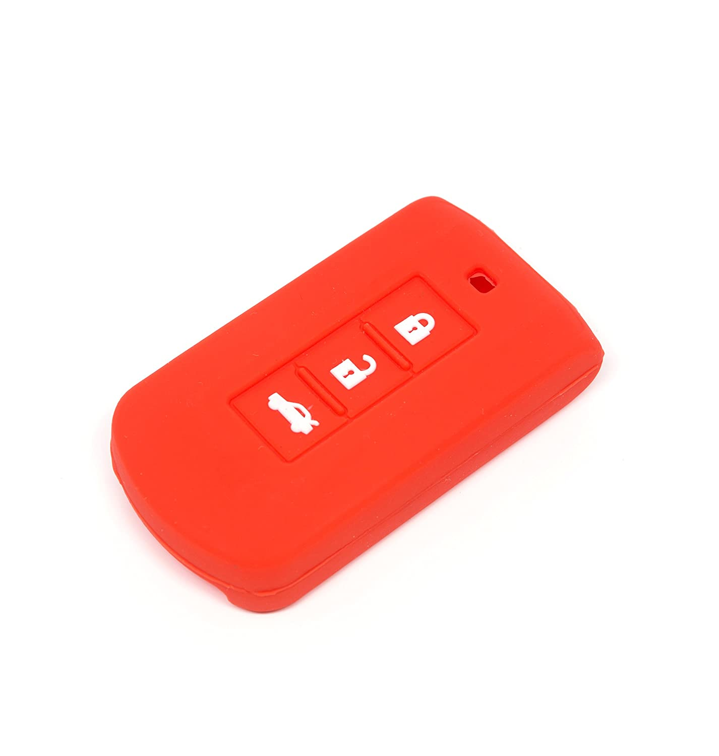 Mitsubishi Silicone Protecting Key Case Cover 3 Button Case Holder Red
