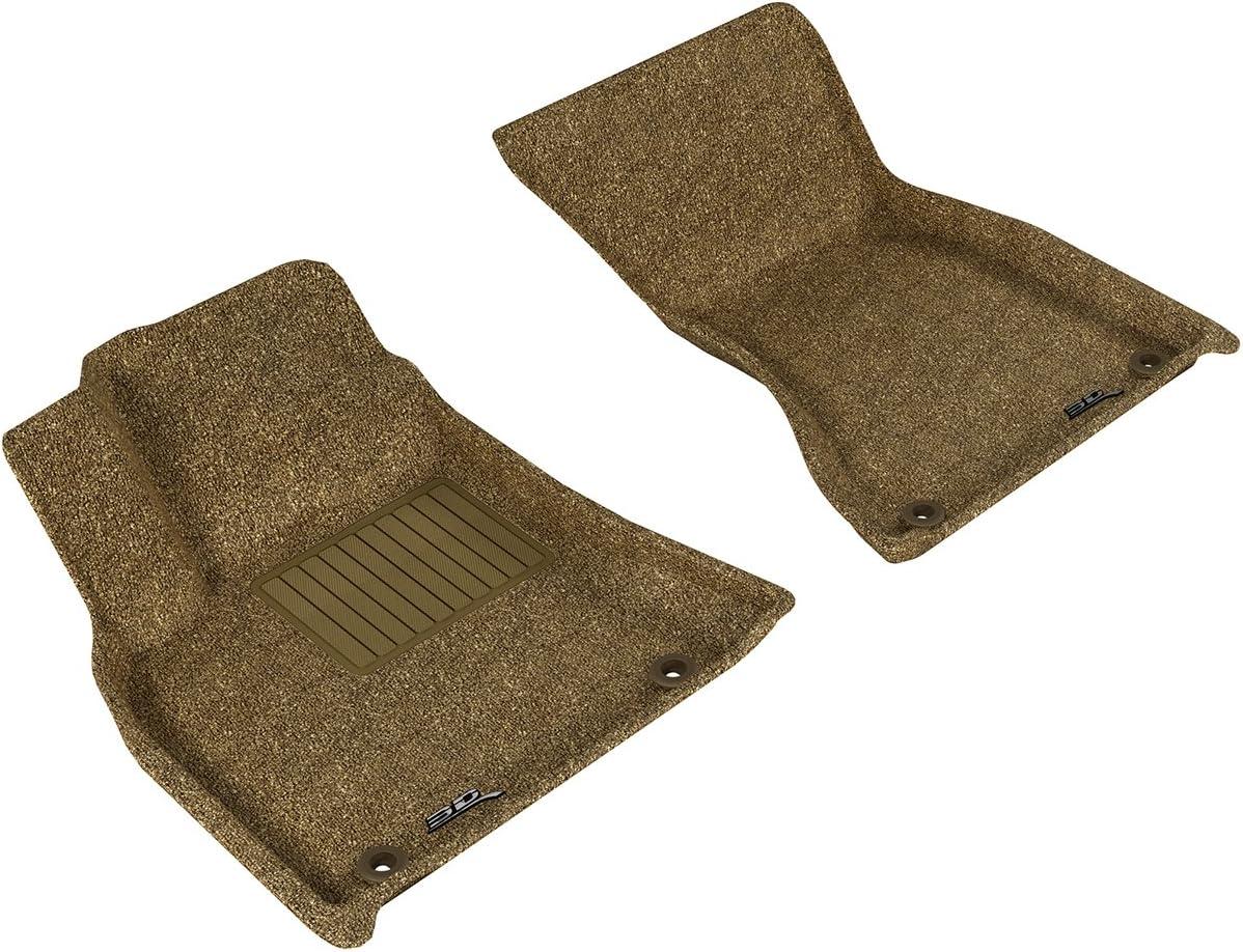 Black 3D MAXpider Second Row Custom Fit Floor Mat for Select Porsche Macan Models Classic Carpet