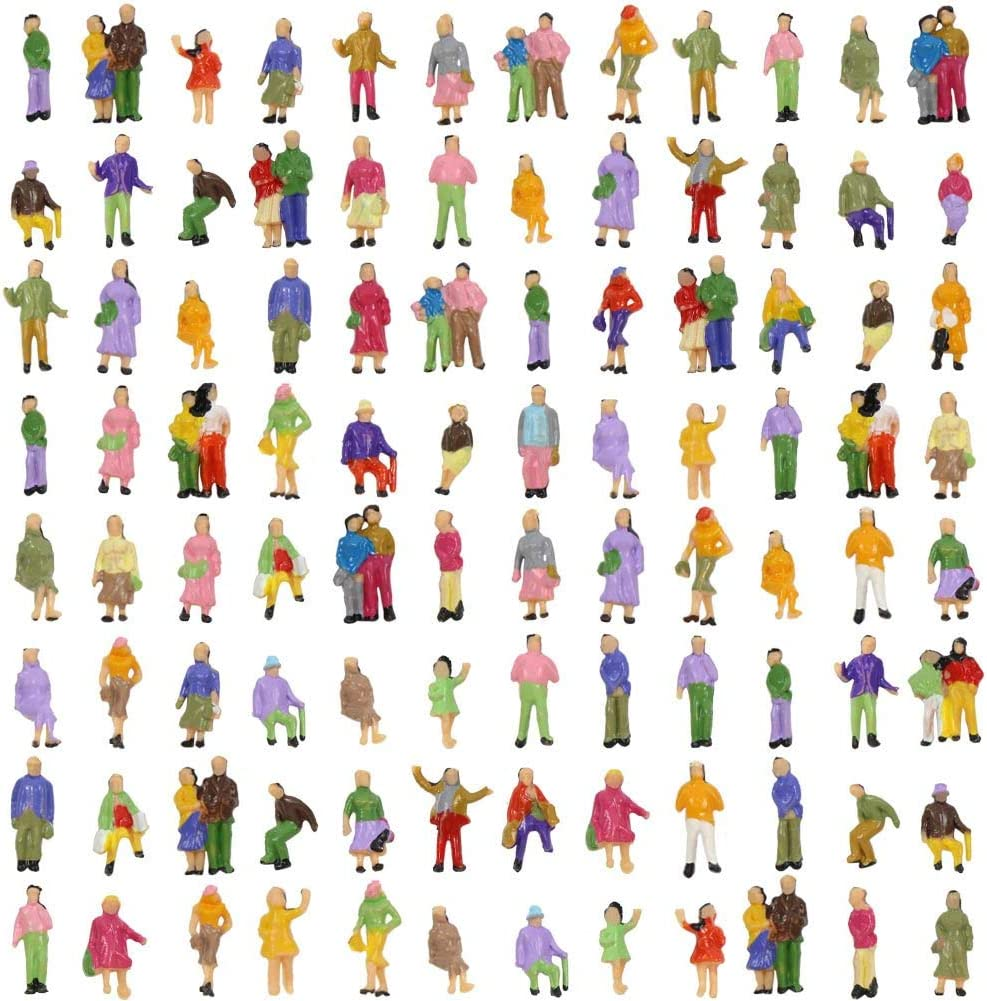 100 Menschenfiguren O Im Maßstab 1 150 Bemalte Personen