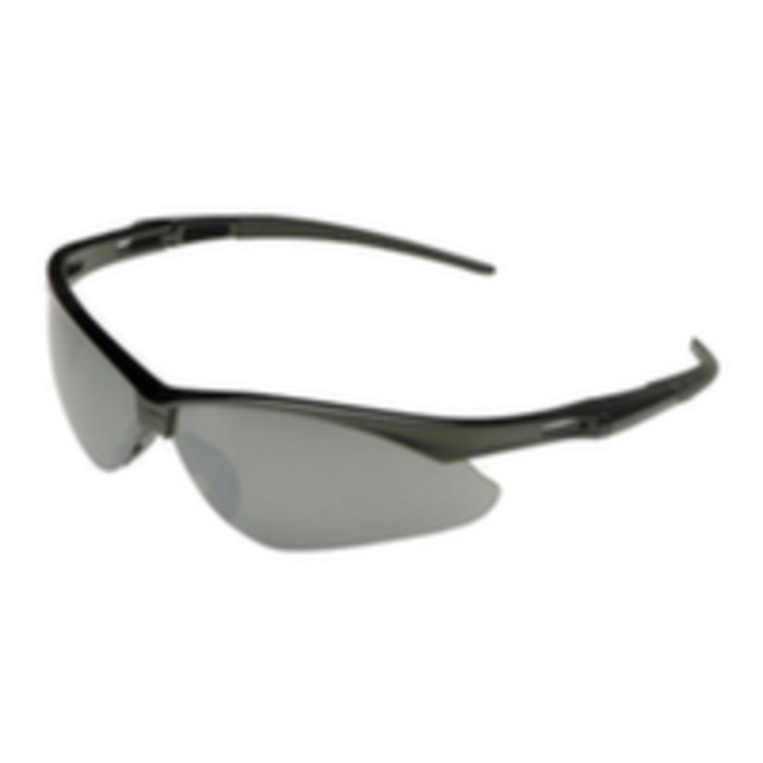 Jackson Safety V30 Nemesis Safety Glasses (25688), Smoke Mirror with Black Frame, 12 Pairs / Case