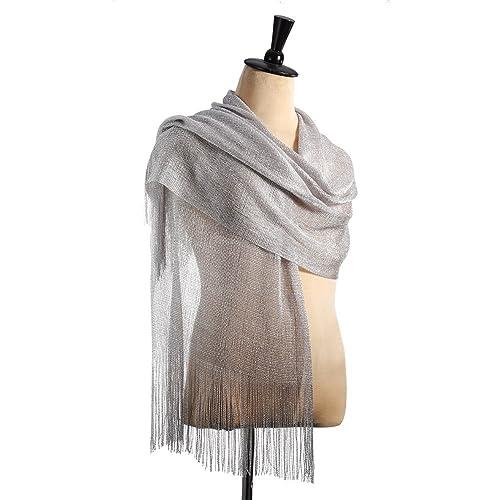 EcoSuma - Chal - para mujer plateado metallic silver Talla única