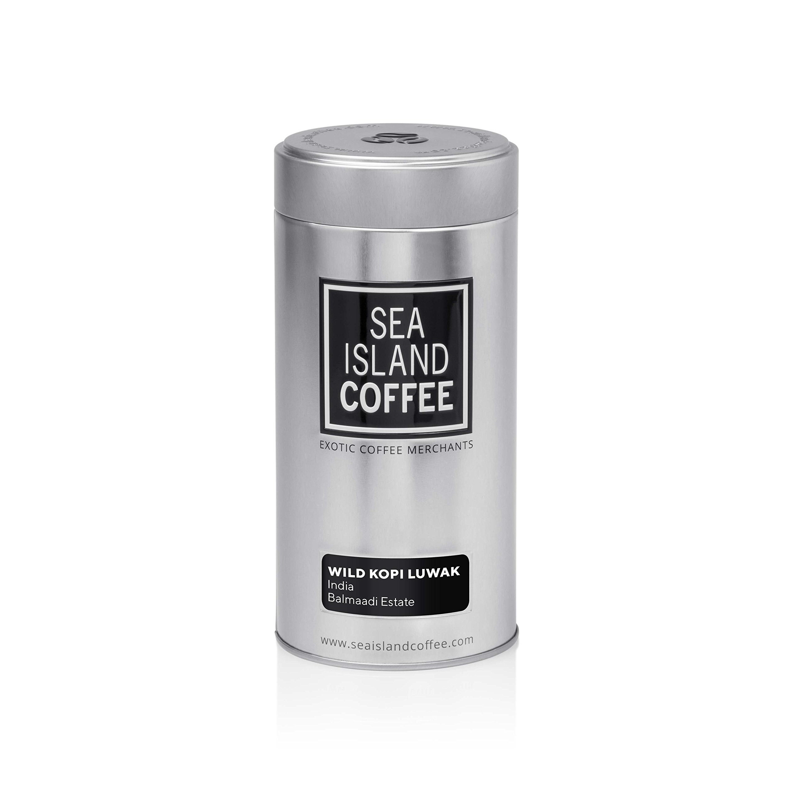 Organic Wild Kopi Luwak, India Coffee - Whole Bean Coffee 250g (8.8 oz) Tin