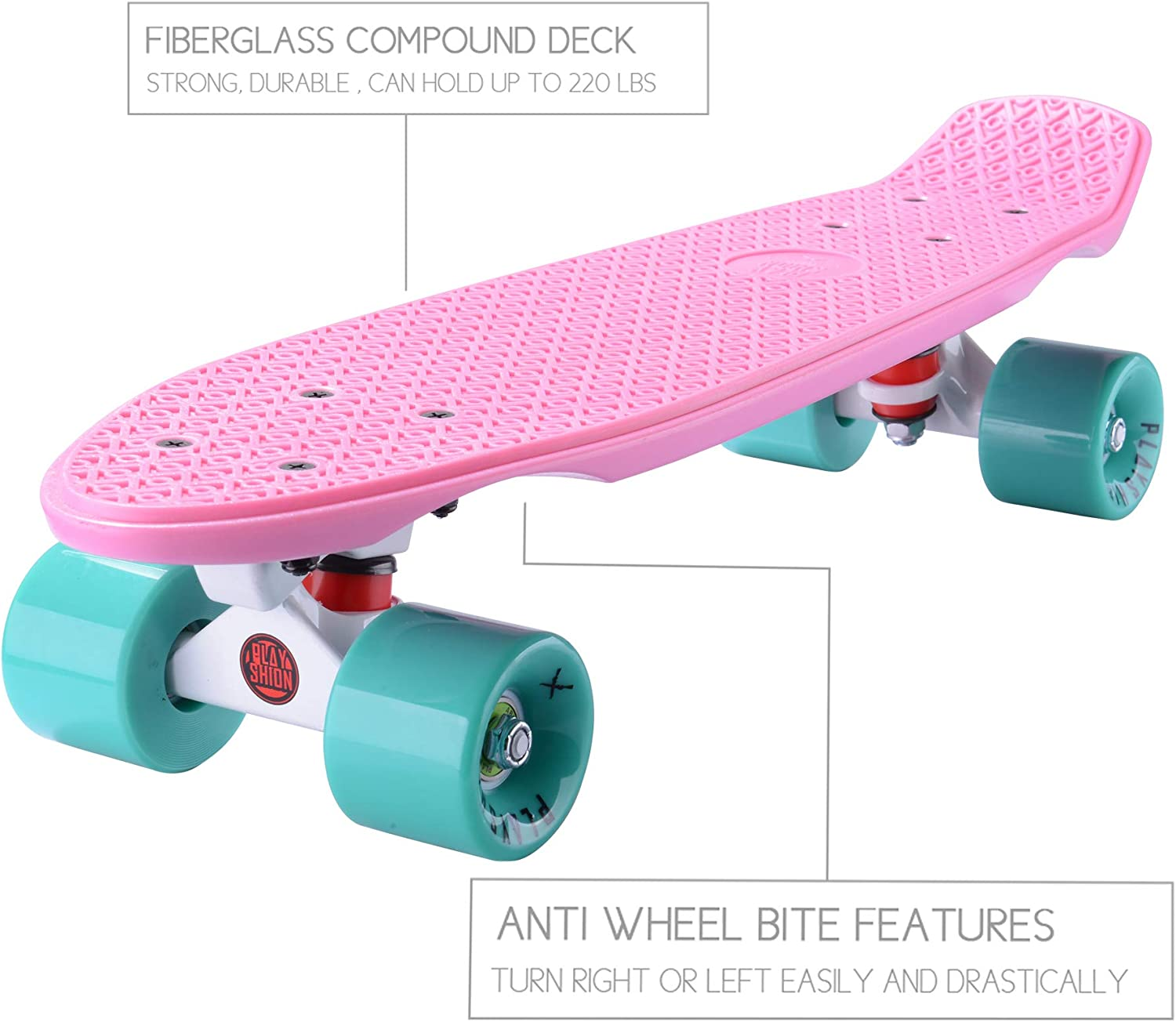 Playshion Complete 22 Inch Mini Cruiser - 1