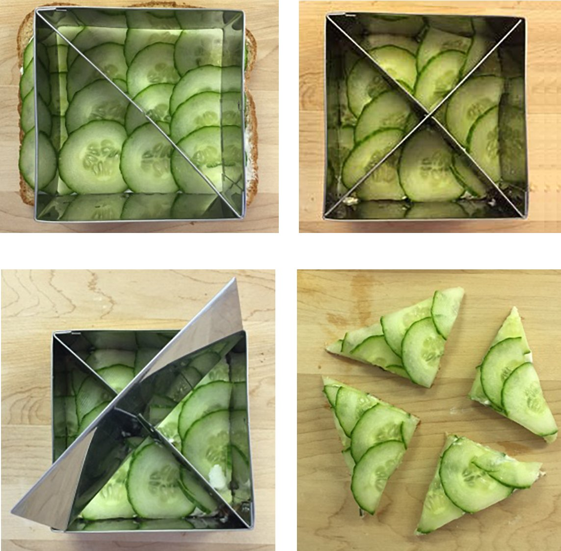 Multifunctional Pastry Cutter (2-Piece Set) - Heavy Gauge 18/10 Stainless Steel, (4-inch and 3.5-inch) with 2 Removable Blades, includes Recipes by Sweet Butter Baker (Image #6)