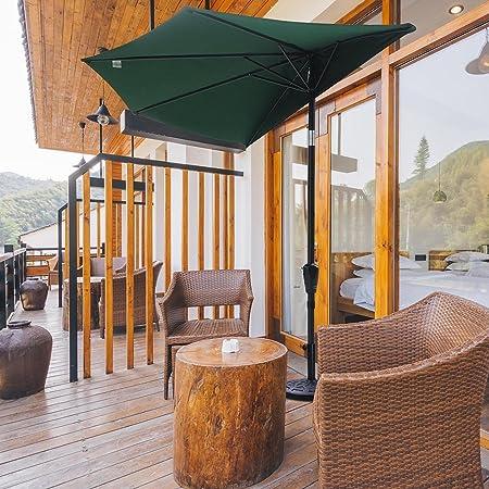 Sombrilla Yescom de patio al aire libre mitad paraguas color café ...