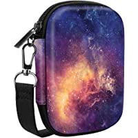 Fintie Carrying Case Compatible with HP Sprocket Photo Printer - Hard EVA Shockproof Storage Portable Travel Bag w/ Inner Pocket, Removable Strap and Metal Hook, Galaxy