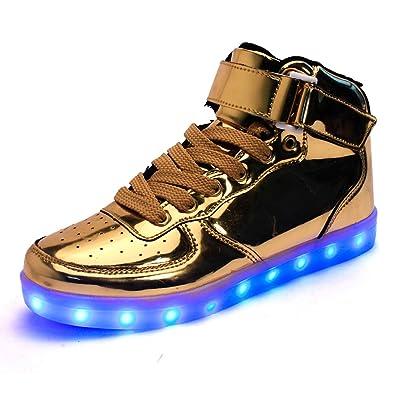 54e679c72ead2 DoGeek LED Schuhe Kinder Damen 7 Farbe USB Aufladen Leuchtend Sportschuhe  Led Kinder Farbwechsel Sneaker Turnschuhe
